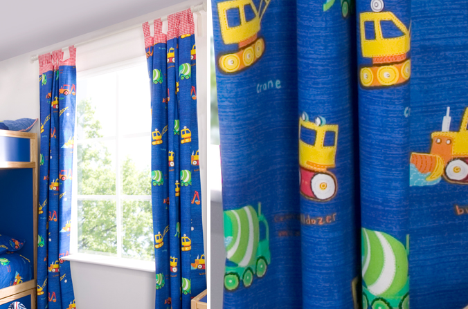 Construction Curtains Childrens Bed Centres