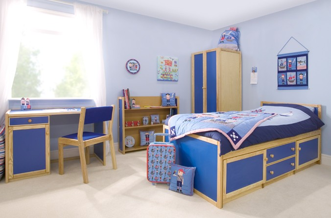 Kids Storage Bed - Available in Blue and Pink