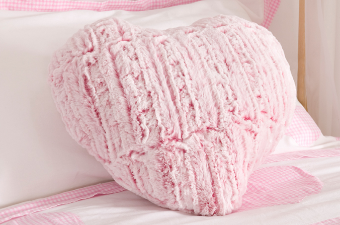 Heart shaped cushion childrens bed centres