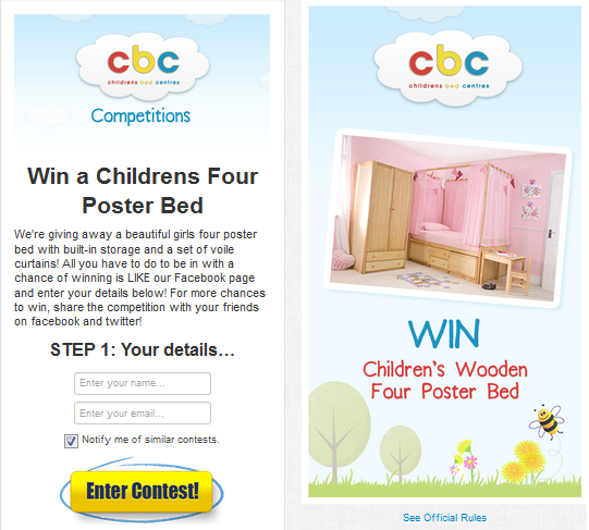 Childrens Bed Centres Launch Girls Four Poster Bed Competition