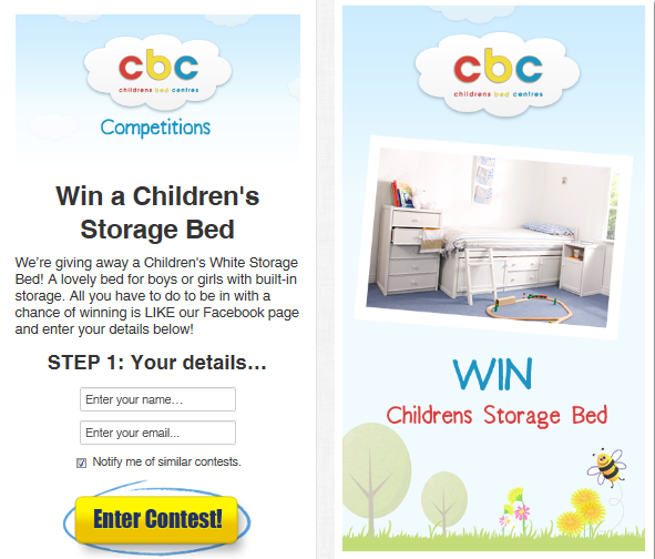Childrens Bed Centres Launch Win a Children's Storage Bed Competition