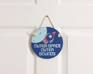 Rocket Themed Door Hanger