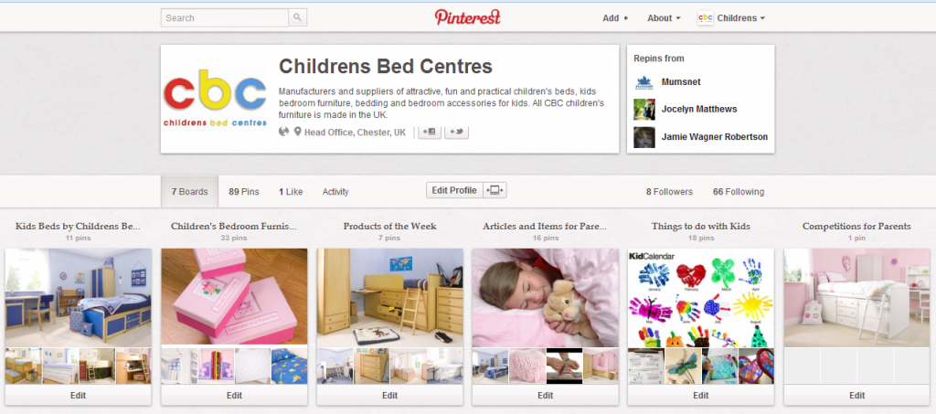 Follow Childrens Bed Centres on Pinterest