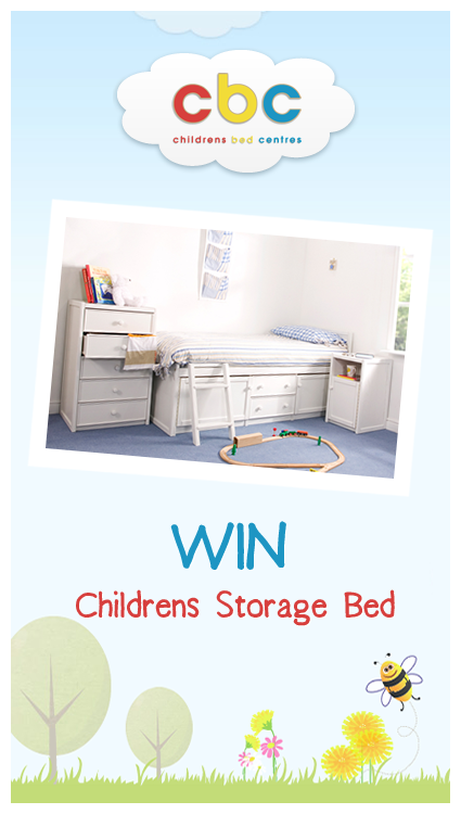 The winner of the Childrens Bed Centres storage bed competition is announced