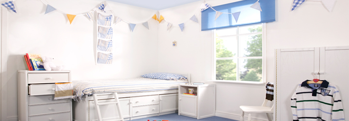 Gingham, Plain and Stripy Bedrooms