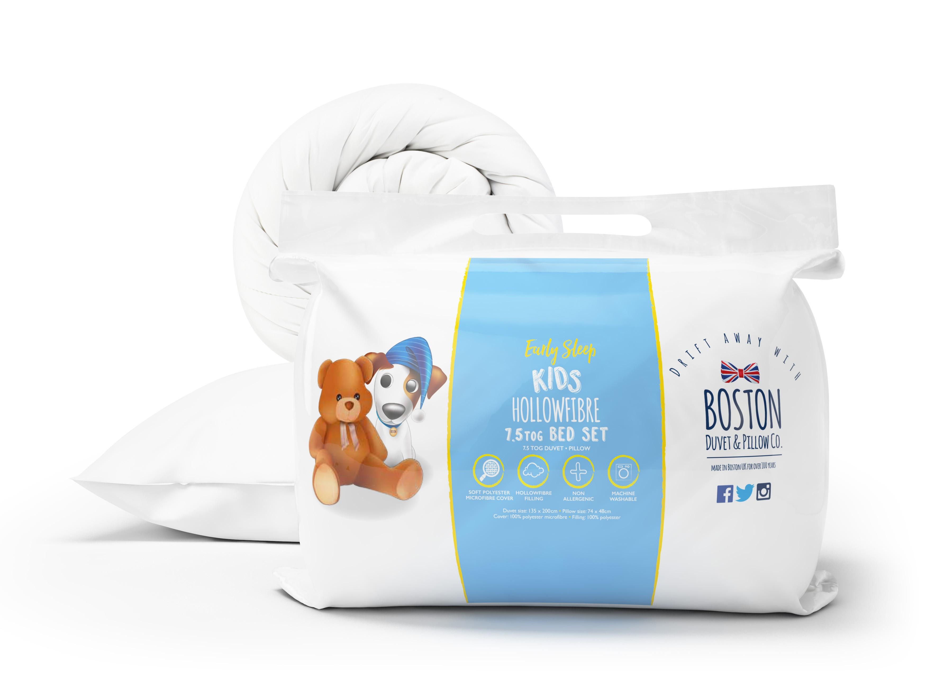 Boston Kids Duvet and Pillow Set 7.5 tog