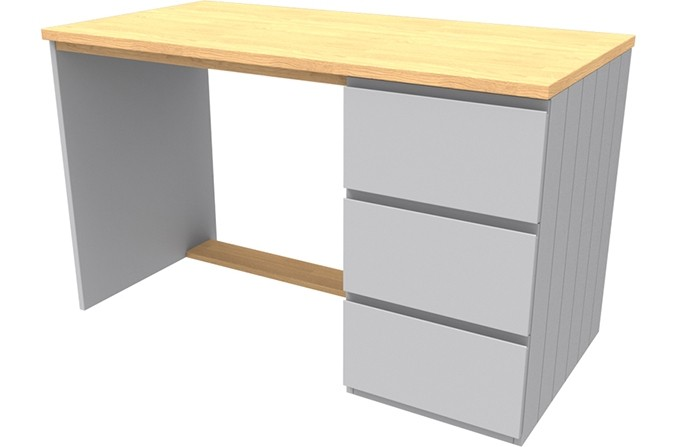 Armada Grey Desk