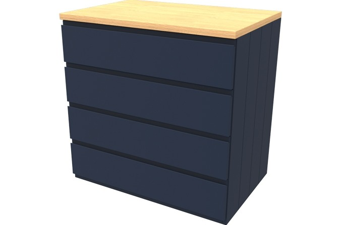 Armada Navy Four Drawer Chest