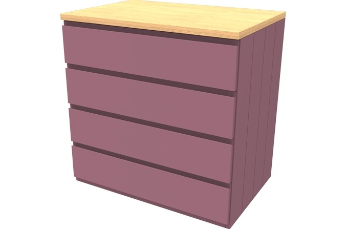 Armada Pink Four Drawer Chest