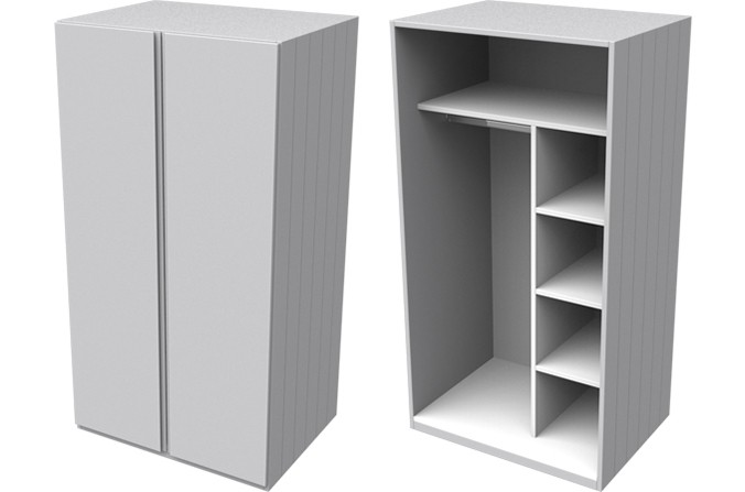 Armada Grey Small Wardrobe