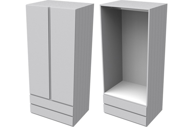 Armada Grey Double Combi Wardrobe