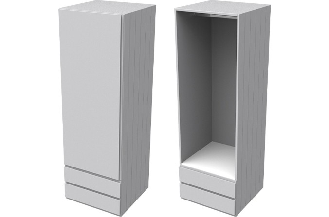 Armada Grey Single Wardrobe with Drawers
