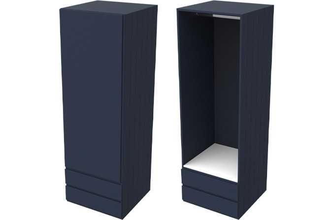 Armada Navy Single Wardrobe with Drawers