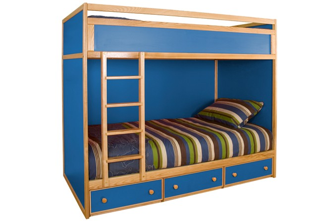 Kids Bunk Bed - Available in Blue and Pink