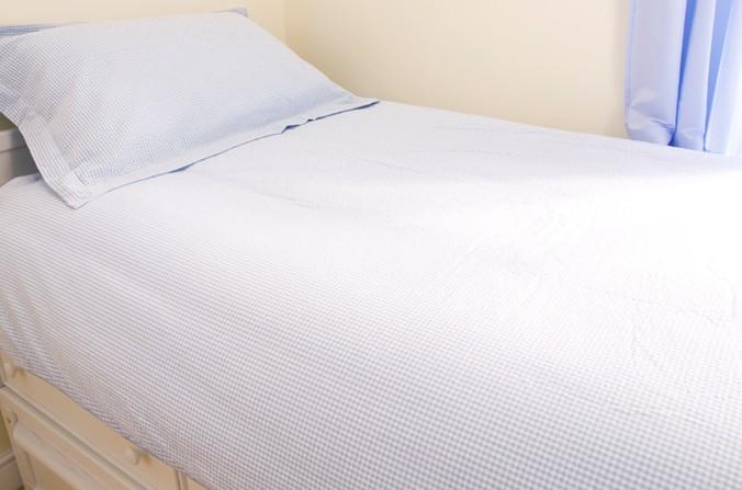 Blue Gingham Bed Linen