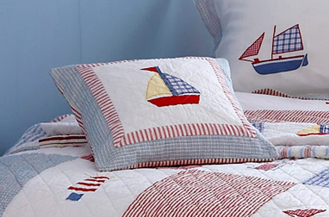 Boats and Kites Cushion