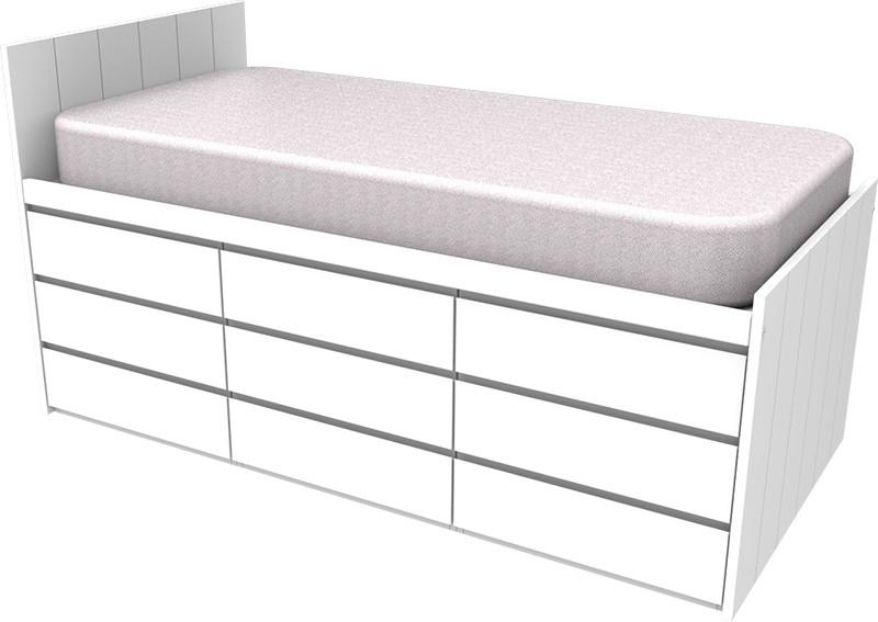 Armada Maxi White Cabin Bed