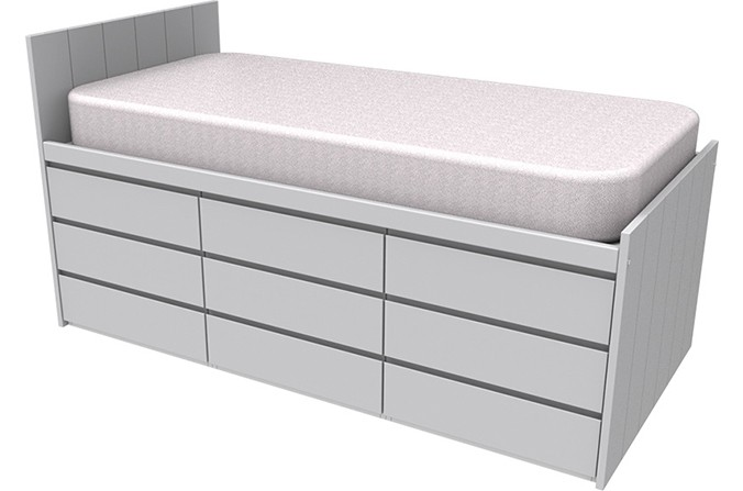 Armada Maxi Grey Cabin Bed