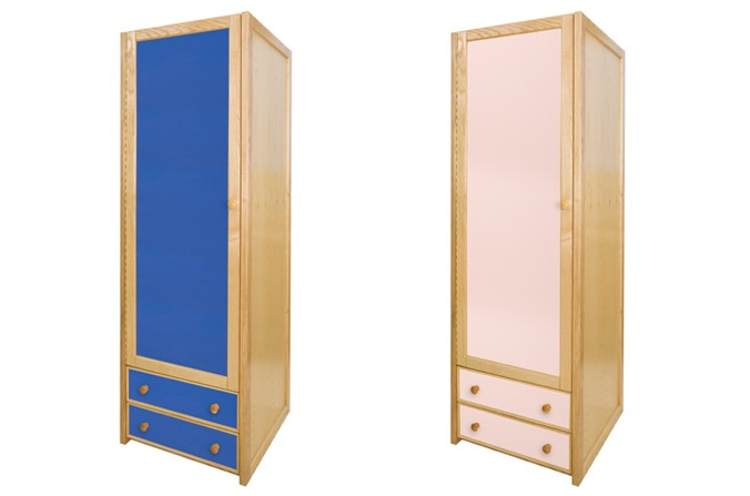 Kids Single Combi Wardrobe - Available in Blue and Pink