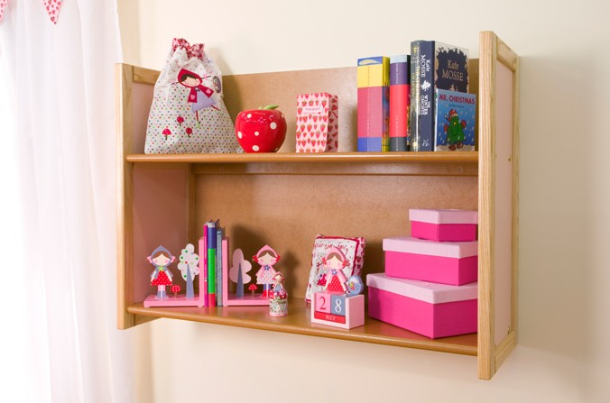 Children's Small Shelves - Available in Blue and Pink