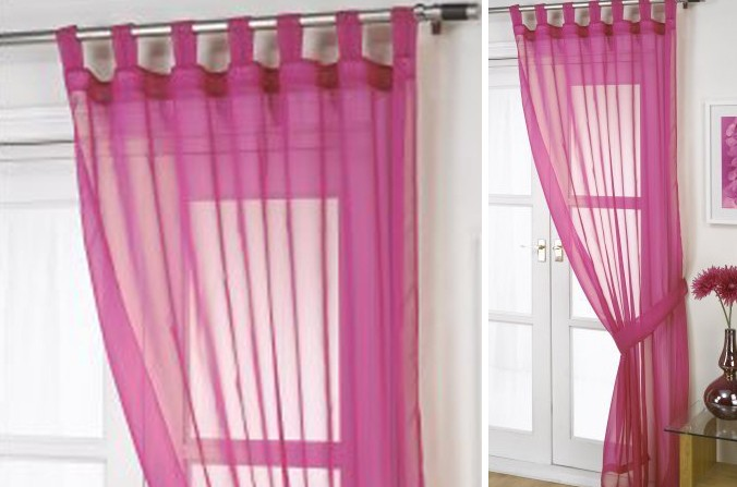 Fuchsia Voile Curtains
