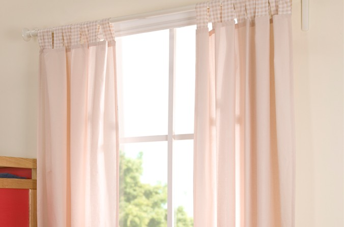 Gingham Eggnog Curtains
