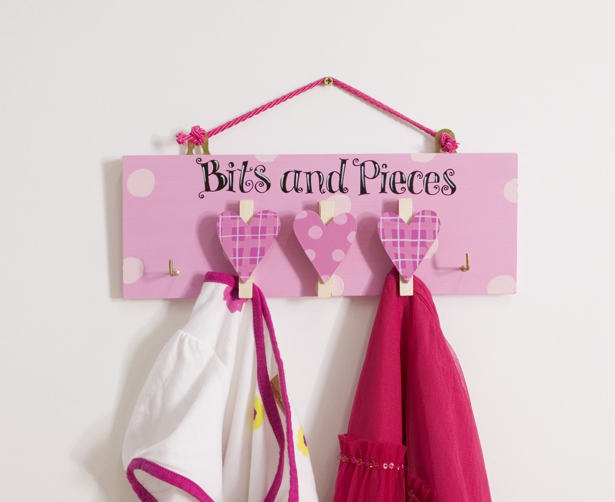 Bits and Pieces Pegs - Pink Heart