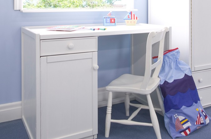 Kids Large White Desk