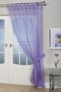 Lilac Voile Curtains