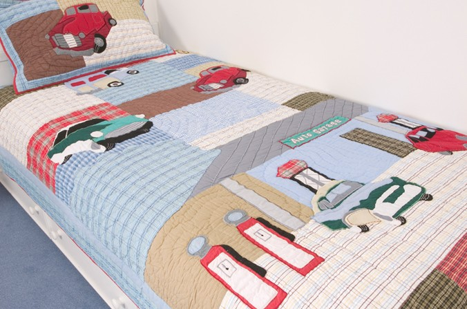Motor Club Quilt and Pillowsham - Single