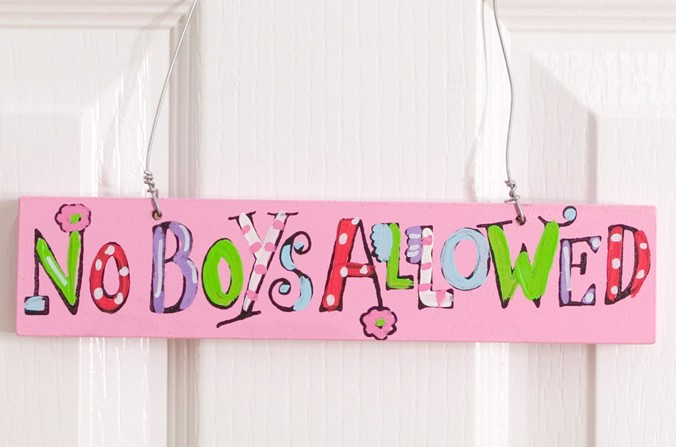 No Boys Allowed Door Plaque