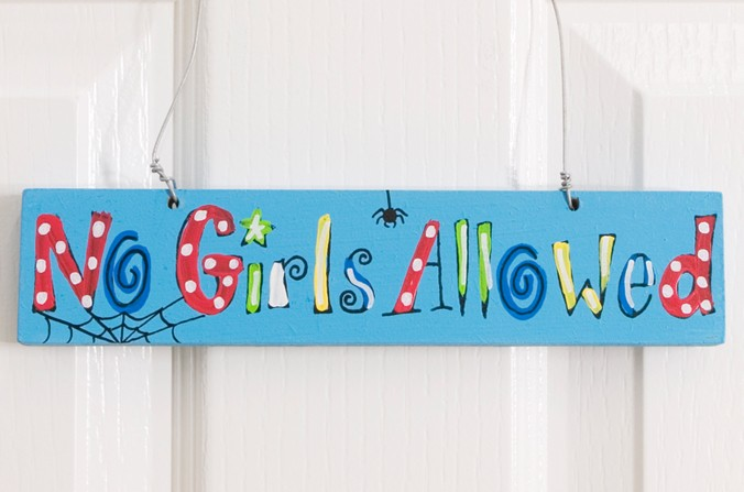 No Girls Allowed Door Plaque
