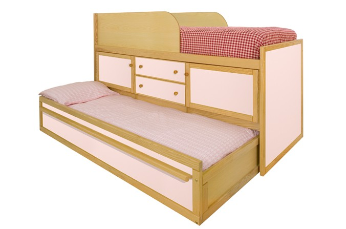 Sleepover Bed with Storage - Available in Pink and Blue