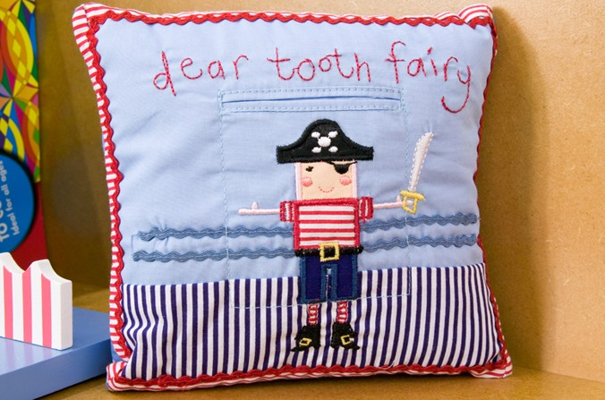Pirates Tooth Fairy Cushion