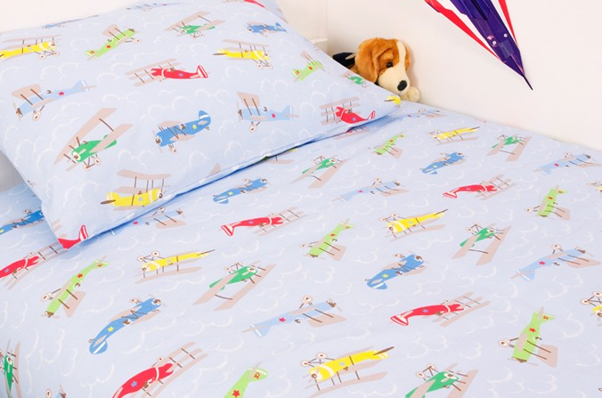 Plane Double Duvet Cover Set