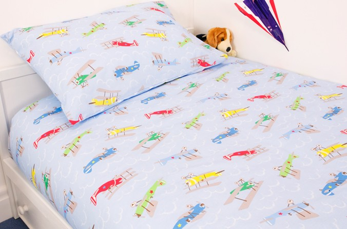 Plane Duvet Cover Set