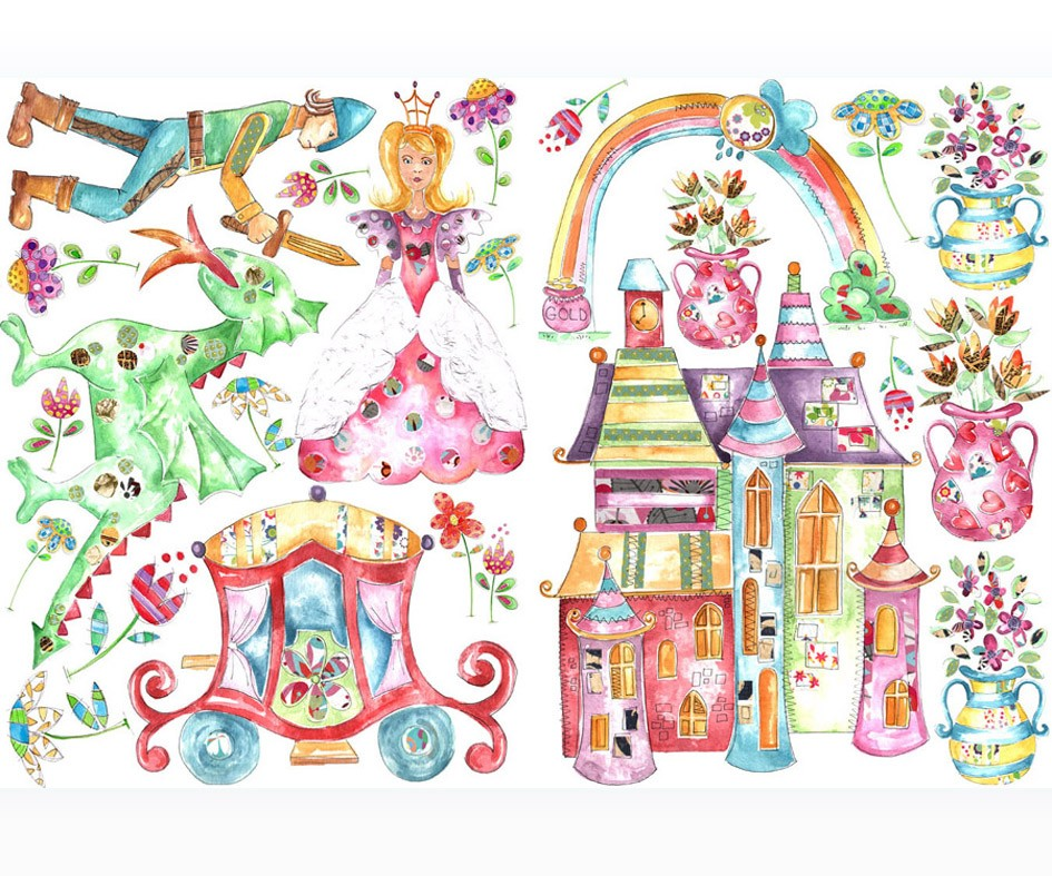 Fairytale Princess Wall Stickers