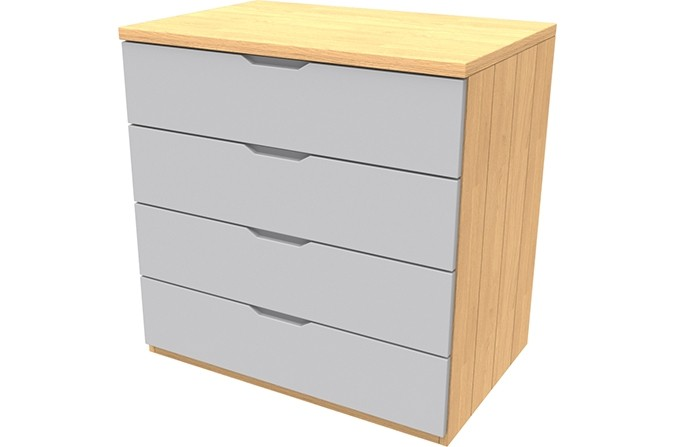 Savannah Grey Four Drawer Chest