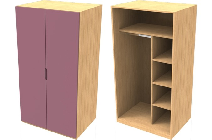 Savannah Pink Small Wardrobe
