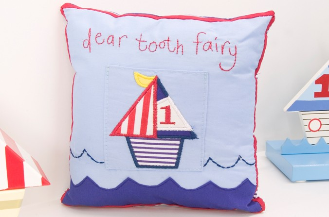 Ships Tooth Fairy Cushion