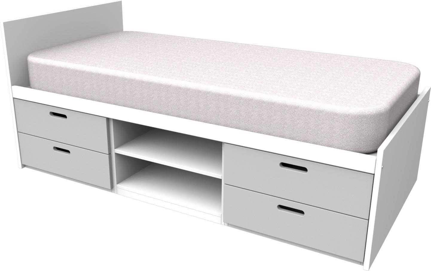 Cheyenne Grey Storage Bed