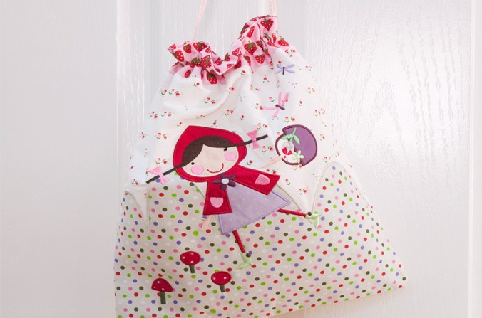 Strawberry Patch Drawstring Bag
