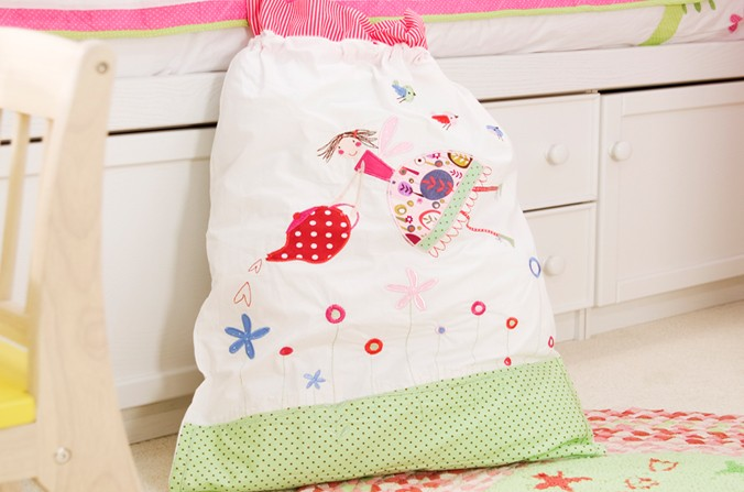 Tea Party Laundry Bag