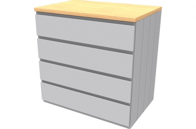 Armada Grey Four Drawer Chest
