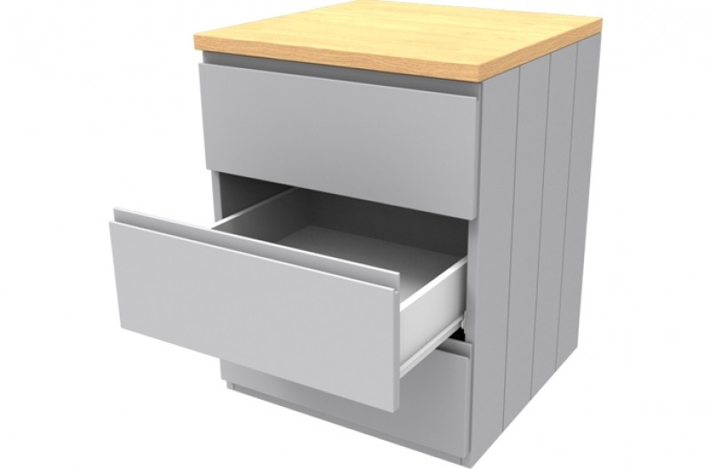 Armada Grey Three Drawer Chest