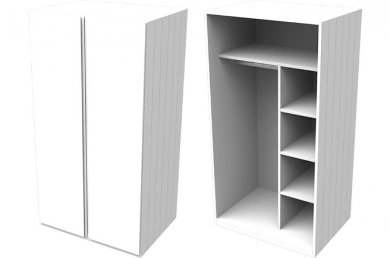 Armada White Small Wardrobe