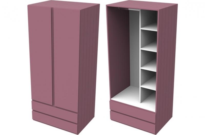 Armada Pink Double Combi Wardrobe