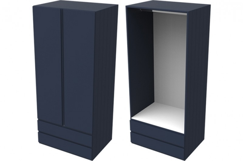 Armada Navy Double Combi Wardrobe