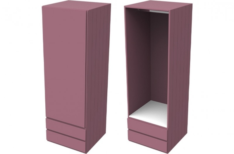 Armada Pink Single Wardrobe with Drawers