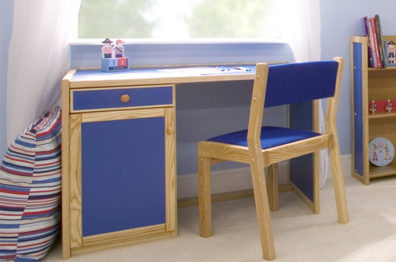 Children's Large Desk - Available in Blue and Pink